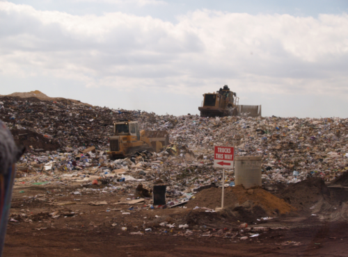 a landfill. This is no disappearing act.