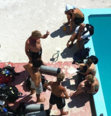 Scuba Instructors in Training...back in the day.