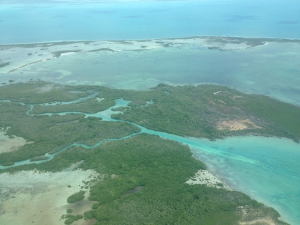 Caye Caulker, Belize, aerial view