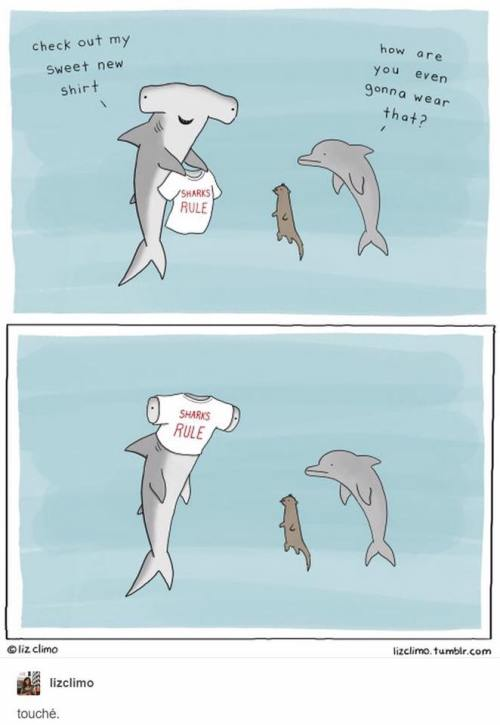 Comic from the wonderful Liz Climo, who you should definitely check out (lizclimo.tumblr.com) or on facebook. Love love love her sea creature comics!