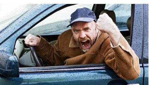 singularly human? Road rage.